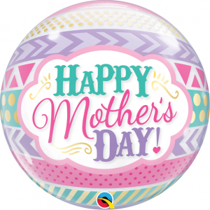 22 INCH SINGLE BUBLE MOTHERS DAY DOTS&STRIPES 1CTP
