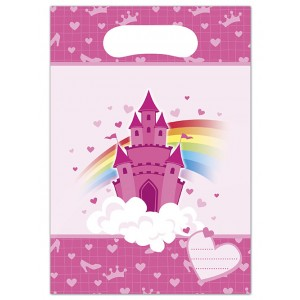 RAINBOW CASTLE-PARTY BAGS 6CT