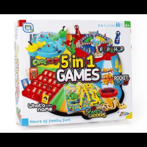 GAMES HUB 5 IN 1 GAMES