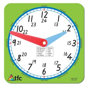 TFC-CLOCK 24HR TEACHER 1P