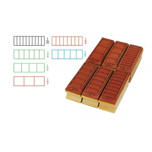 TFC-STAMP FRACTION RECTANGLE 6P