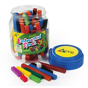 TFC-COLOURED RODS PLASTIC 155P