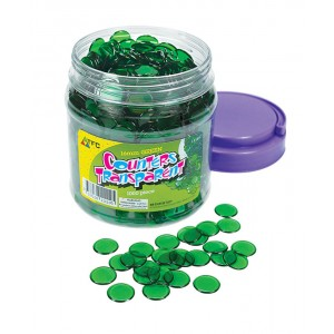 TFC-COUNTERS 16MM TRANSPARENT GREEN 1000P