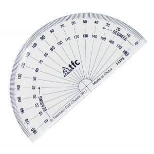 TFC-PROTRACTOR 180° STUDENT BASIC 1P