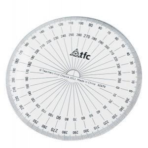 TFC-PROTRACTOR 360° STUDENT BASIC 1P