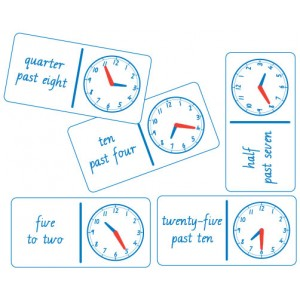 TFC-DOMINOES CLOCK ANALOGUE AND WORDS 28P