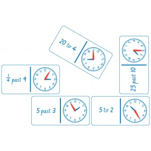 TFC-DOMINOES CLOCK ANALOGUE AND NUMBERS 28P