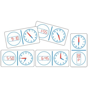 TFC-DOMINOES CLOCK ANALOGUE/DIGITAL 12HR  28P