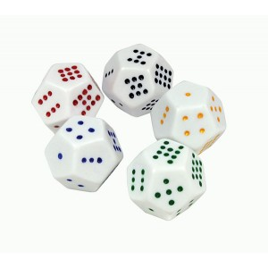 TFC-DICE 12 FACE DOT JUMBO 1P