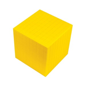 TFC-BASE 10 BASE TEN CUBE YELLOW 1P