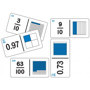 TFC-DOMINOES EQUIVALENT FRACTION/DECIMAL SET B 28P