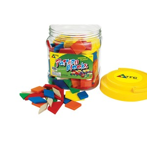 TFC-PATTERN BLOCKS MEDIUM PLASTIC 250P