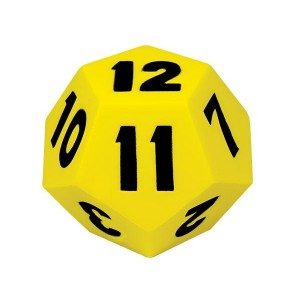 TFC-DICE 12 FACE 13CM MOULDED