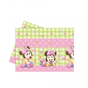BABY MINNIE PLASTIC TABLECOVER 120X180CM 1CT