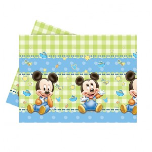 BABY MICKEY PLASTIC TABLECOVER 120X180CM 1CT