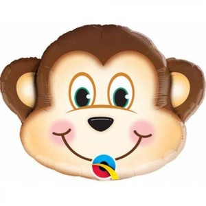 14 INCH FOIL MISCHIEVOUS MONKEY AIR FILLED 1CTL