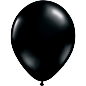 11 INCH LATEX ONYX BLACK PL RND 100CTP