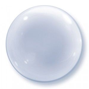 20 INCH DECO BUBBLE ROUND CLEAR 1CTP