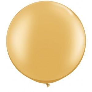 3 FT LATEX PLAIN RND GOLD 2CTP