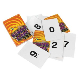 TFC-NUMBER CARDS 0-9 50P