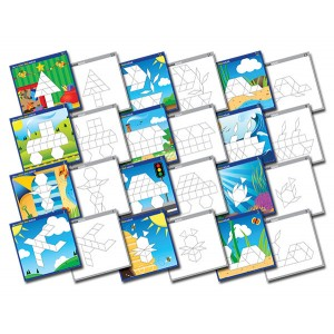 TFC-PATTERN BLOCK ACTIVITY CARDS 12P