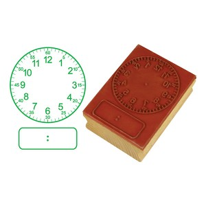 TFC-STAMP CLOCK DIGITAL/ANALOGUE HRS&5MNS (50MM)1P