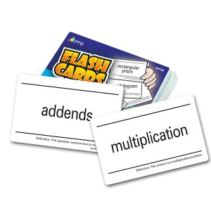 TFC-FLASH CARDS - MATH VOCABULARY 55P