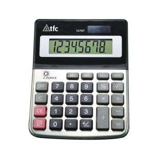 TFC-CALCULATOR 8 DIGIT 1P