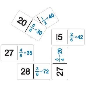 TFC-DOMINOES FRACTION NUMBER SET B 28P