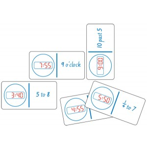 TFC-DOMINOES CLOCK DIGITAL AND NUMBERS 28P