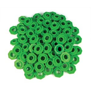 TFC-PLACE VALUE ABACUS BEADS - GREEN 100P
