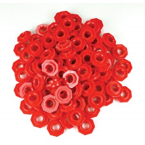 TFC-PLACE VALUE ABACUS BEADS - RED 100P