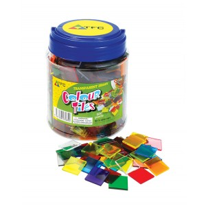 TFC-COLOUR TILES 2CM TRANSPARENT 500P