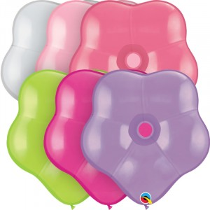 16 INCH LATEX GEO BLOSSOMS FLOWER ASSORTMENT 50CTP