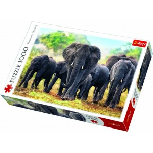 TREFL-1000 PC PUZZLE AFRICAN ELEPHANTS