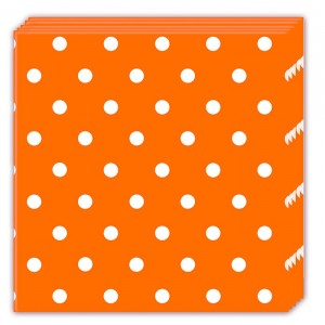 ORANGE DOTS THREE PLY NAPKINS 33X33CM 20CT