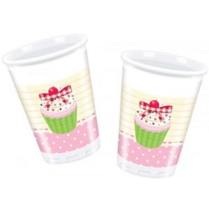 DELICIOUS CUPCAKE-PLASTIC CUPS 200ML 10CT