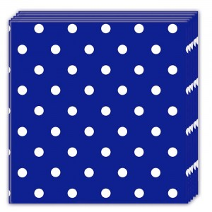BLUE ROYAL DOTS THREE PLY NAPKINS 33X33CM 20CT