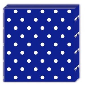 BLUE ROYAL DOTS-THREE-PLY NAPKINS 33X33CM 20CT
