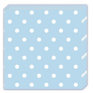 BLUE DOTS THREE PLY NAPKINS 33X33CM 20CT