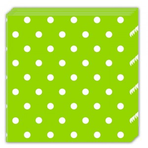 GREEN DOTS THREE PLY NAPKINS 33X33CM 20CT
