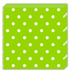 GREEN DOTS-THREE-PLY NAPKINS 33X33CM 20CT