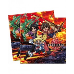 BAKUGAN-TWO-PLY PAPER NAPKINS 33X33CM 20CT