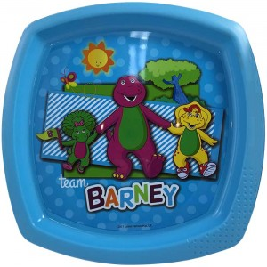 BARNEY SQUARE SHAPED PLATE(PURPLE)