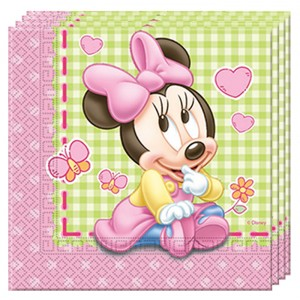 BABY MINNIE TWO PLY PAPER NAPKINS 33X33CM 20CT