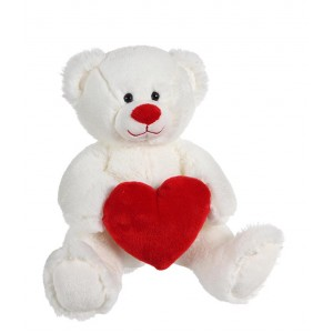 PLUSH-BEAR WITH HEART 22 CM