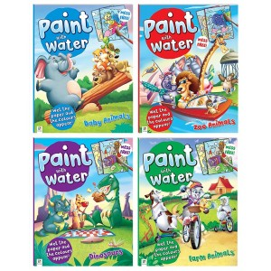 PAINT WITH WATER BOOKS (4 ASSORTED)