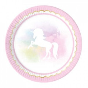 BELIEVE IN UNICORN-PAPER PLATES LARGE 23CM 8CT
