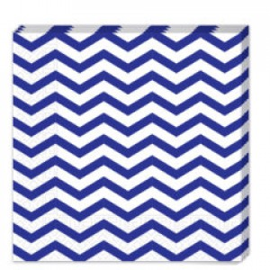 BLUE CHEVRON-TWO-PLY PAPER NAPKINS 33X33CM 20CT