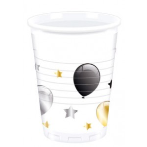 MILESTONE BDAY BALON PLASTIC CUPS 200ML 8CT
